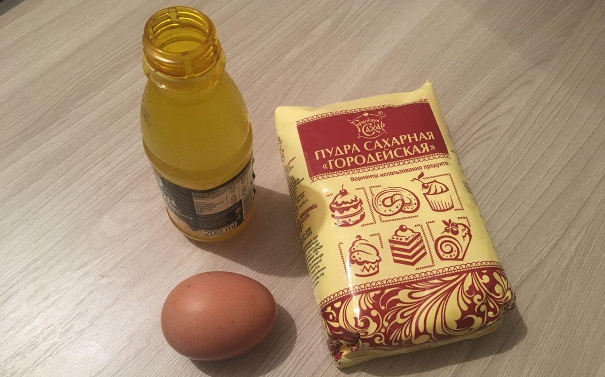 Ингредиенты для приготовления глазури.