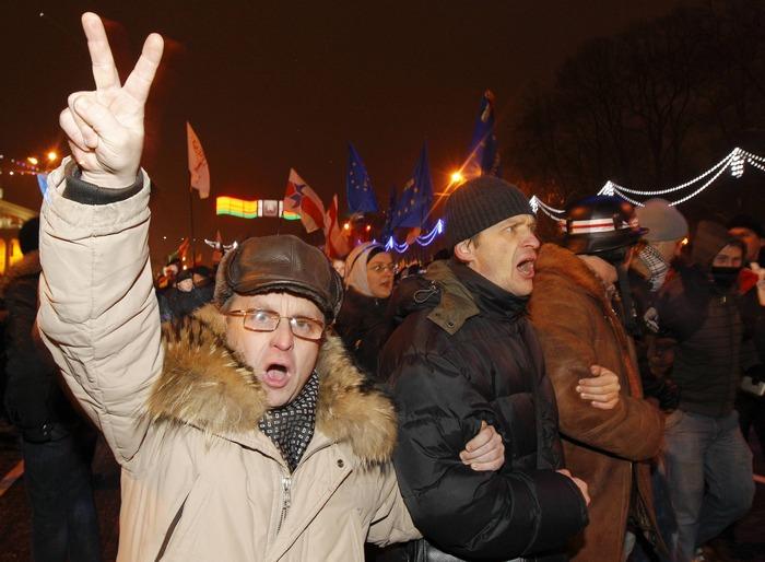 Минск, 19 декабря 2010 года. Фото: tut.by