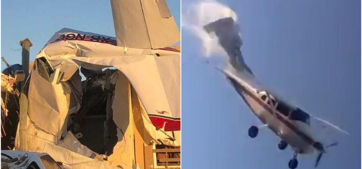 В Мексике самолет упал на жилой дом, есть жертвы (видео)