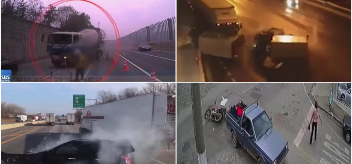 ТОП-5 ужасных аварий за неделю: грузовик упал с обрыва на аквапарк, неуправляемая бетономешалка, нелегальный пассажир (видео 18+)