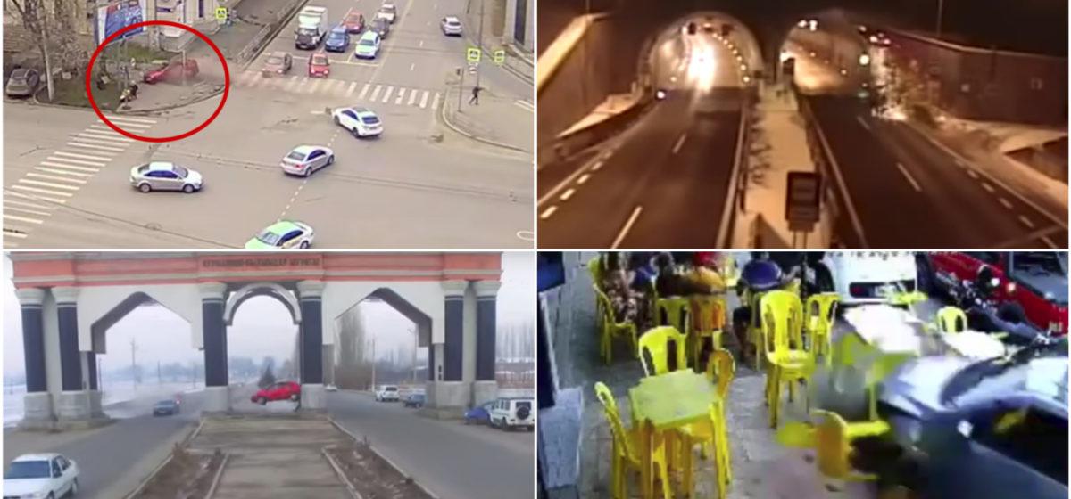 ТОП-5 ужасных аварий за неделю: байкер без тормозов, женщина с коляской и лихач, легковушка влетела в летнее кафе (видео 18+)