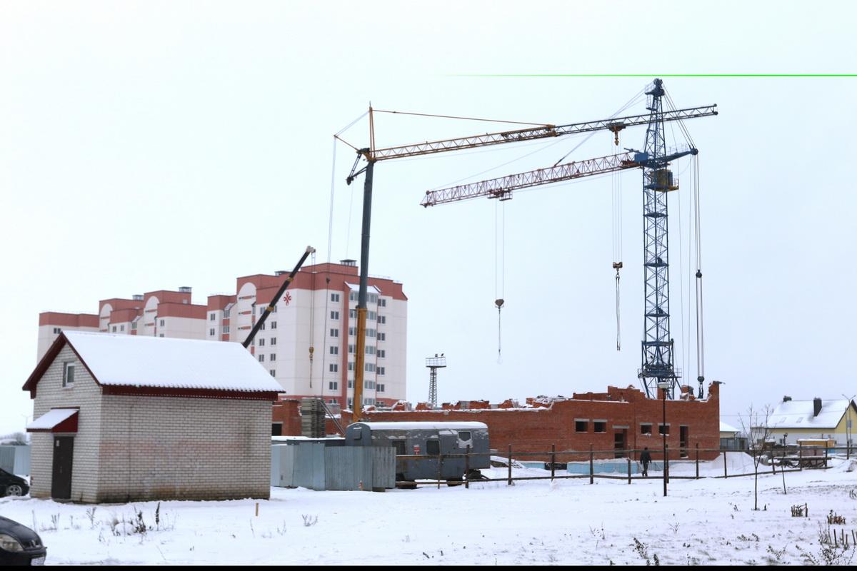Строительство детского сада в Боровках. Фото: Александр ЧЕРНЫЙ