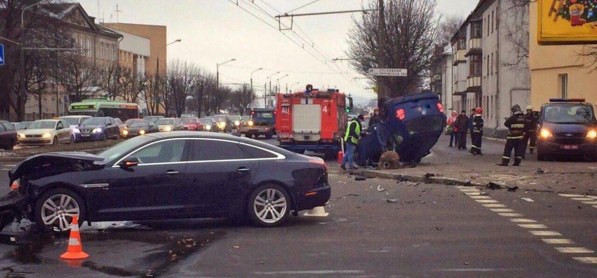 Смертельное ДТП в Минске. «Ягуар» врезался в «Фольксваген»