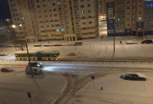 Утро в Барановичах 18 декабря. Фотофакт