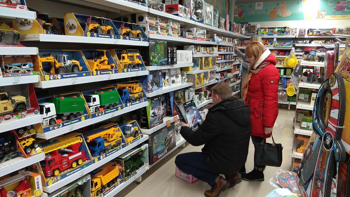 Магазины, новогодняя торговля, подарки, Светиловский