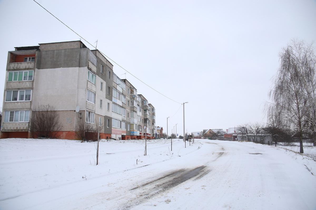 Улица Интернациональная в Ляховичах, на которой происходило задержание.