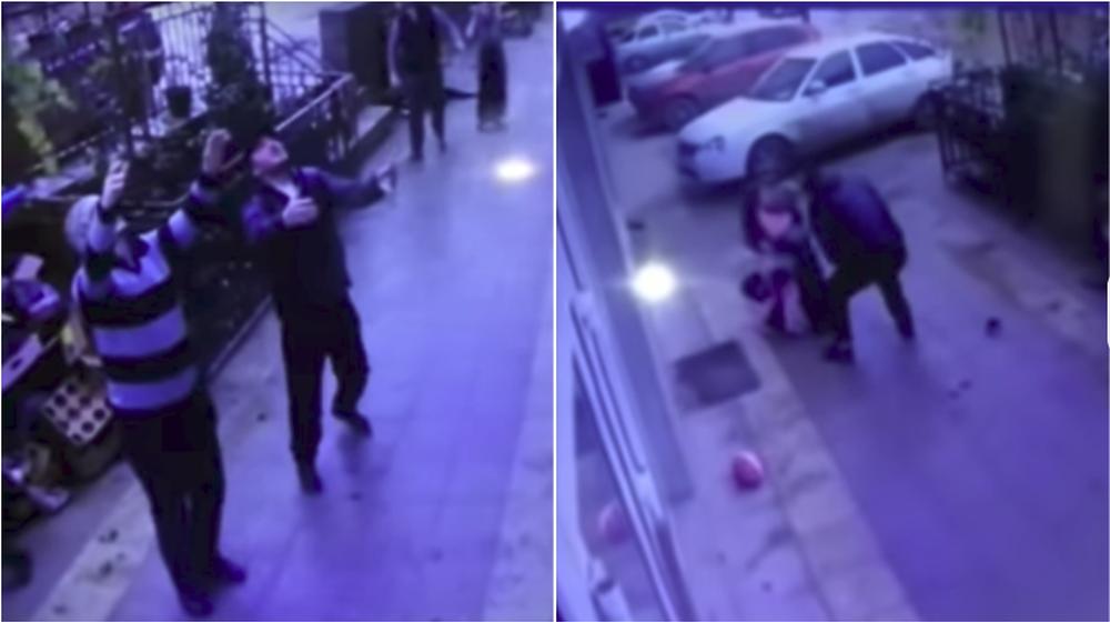 Видеофакт. В Махачкале двое прохожих поймали девочку, которая выпала из окна пятого этажа