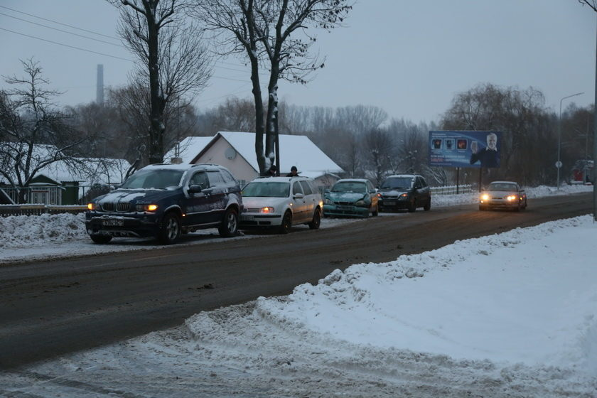ДТП. «Паровозик» из трех машин в Барановичах (фотофакт)