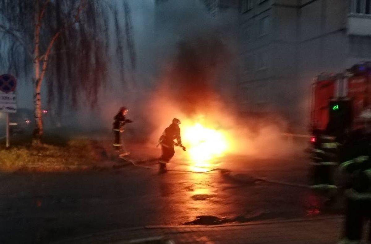 пожар в Северном микрорайоне Барановичи мчс