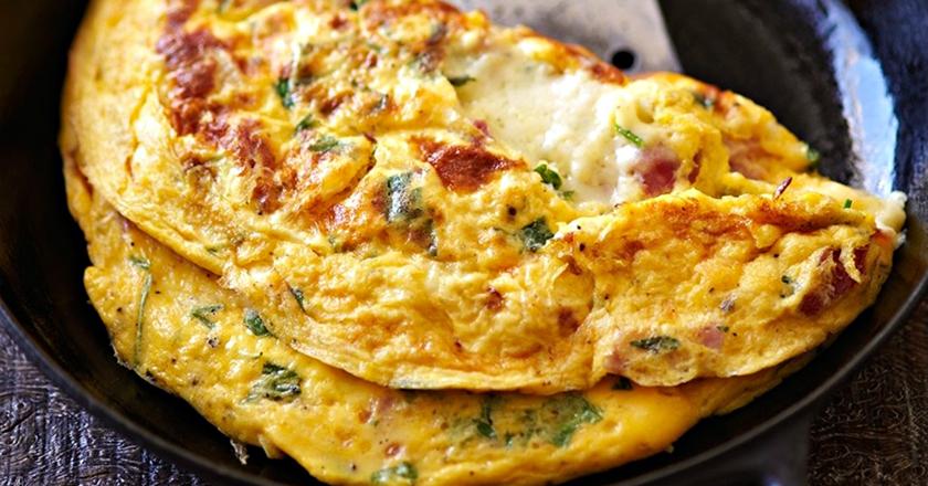 Вкусный и необычный завтрак. Постный омлет без яиц