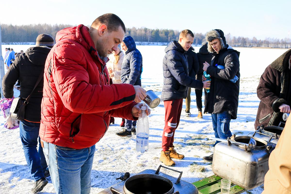 Крещение на водохранилище Мышанка.