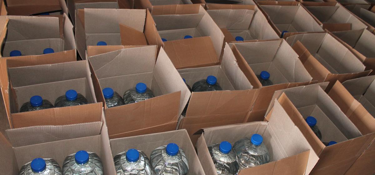 Более 2 тонн фальсифицированного алкоголя изъяли в Барановичах с начала года