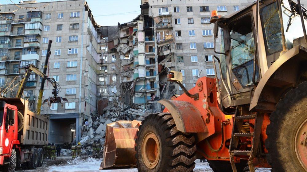 Фотофакт. Что происходит на месте обрушения подъезда дома в Магнитогорске
