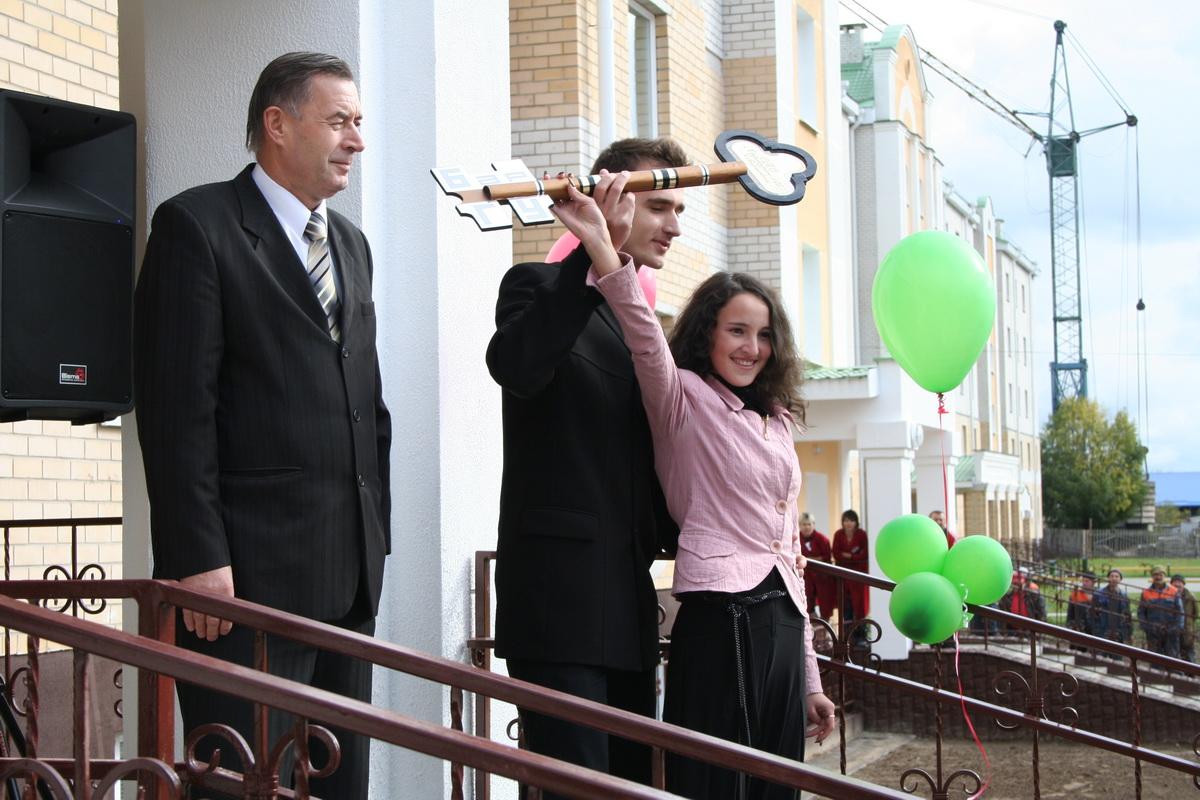 2007 год.  Открытие общежития для студентов БарГУ. Фото: Intex-press