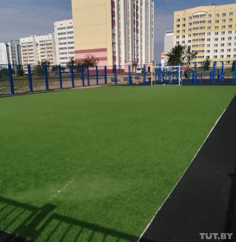 Спортивная площадка, где произошел инцидент, фото: tut.by.