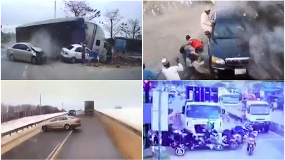 ТОП-5 ужасных аварий за неделю: фура въехала в толпу мотоциклистов, роковой занос, неуправляемый грузовик (видео 18+)