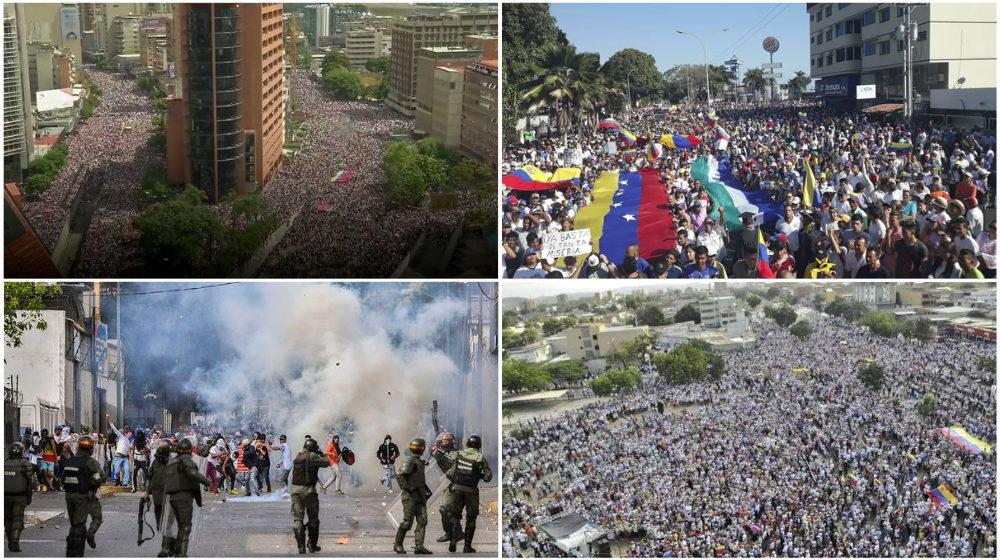 Что происходит в Венесуэле. Массовые протесты, два президента, сотни пострадавших