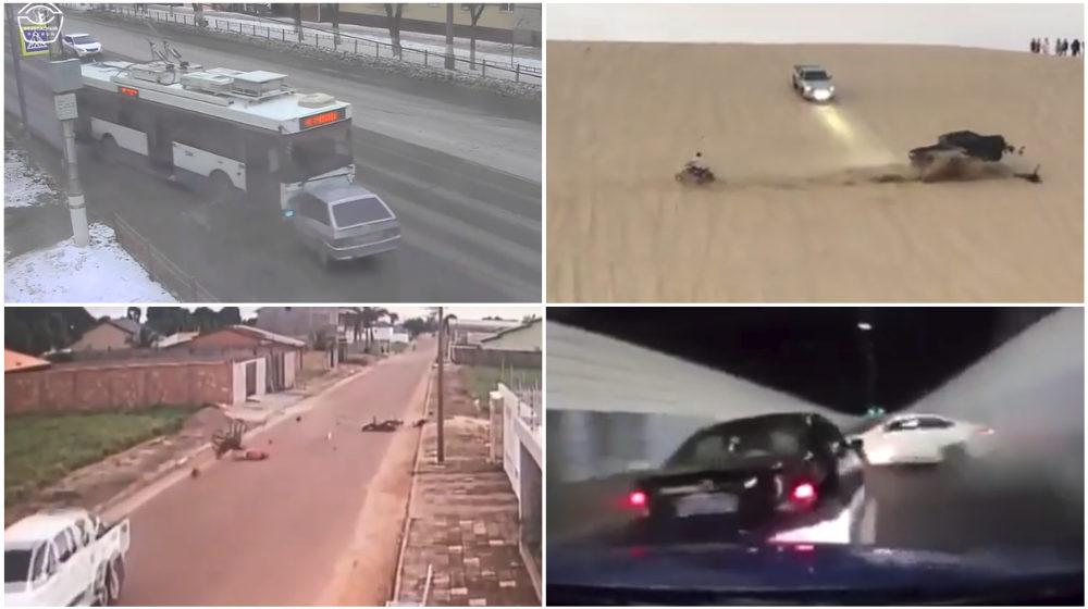 ТОП-5 ужасных аварий за неделю: троллейбус против легковушки, байкеры-камикадзе, опасные гонки в тоннеле (видео 18+)