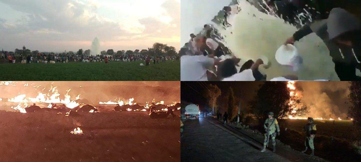 Более 70 человек погибли при взрыве на месте нелегальной врезки в нефтепровод в Мексике (видео)