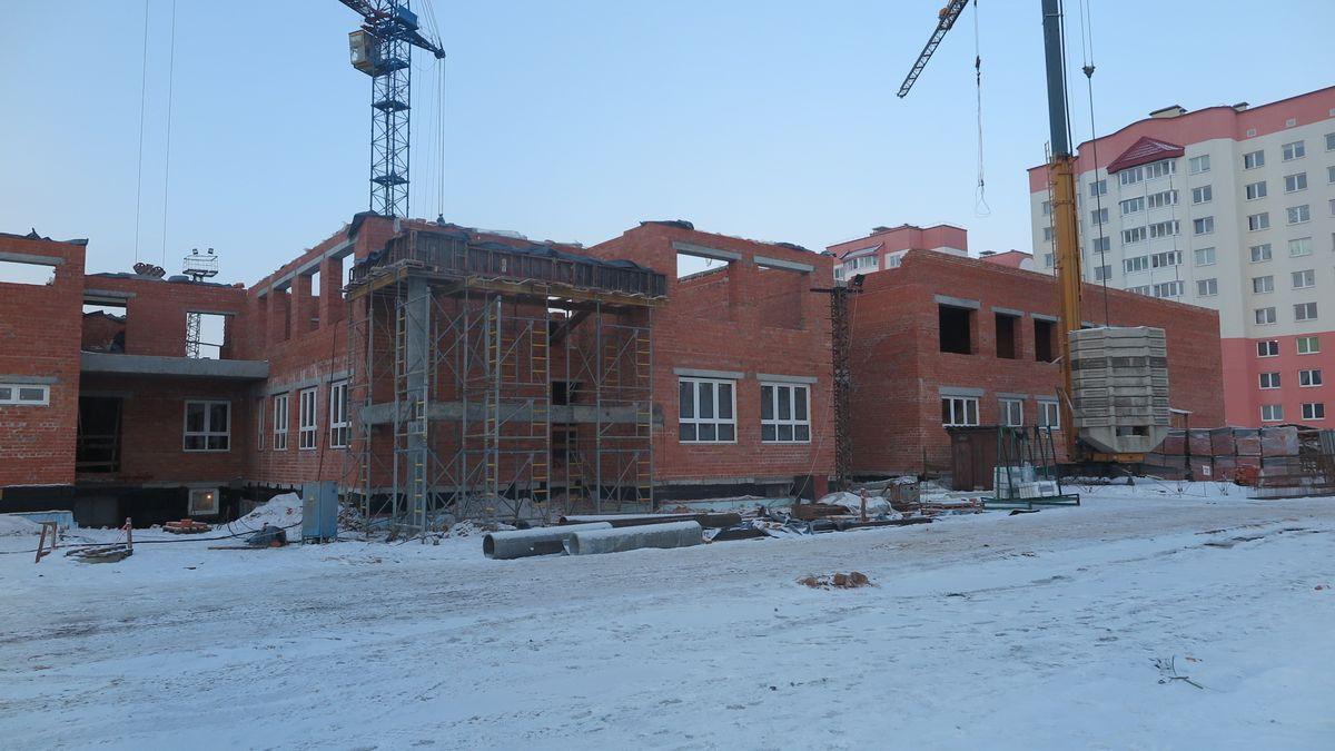 Строительство детского сада в Боровках. Фото: Елена ЗЕЛЕНКО