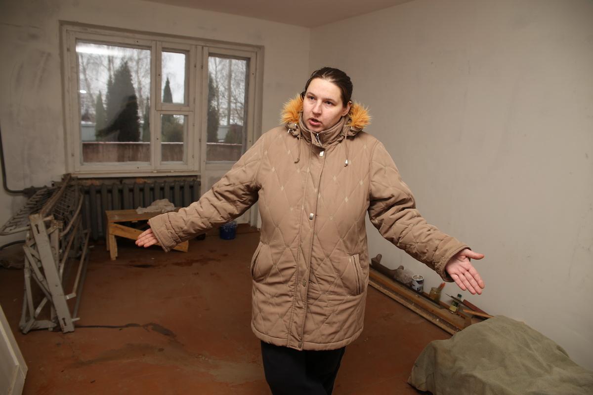 Так выглядит комната в арендной квартире, которую выделили семье Лешкевич. Фото: Евгений ТИХАНОВИЧ