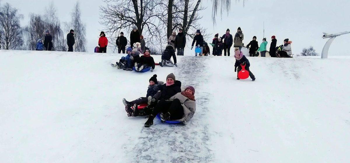 Четвероклассник пострадал в Полоцке во время катания с горки