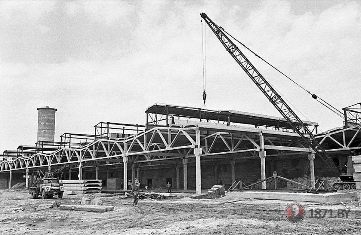 1971 год. Строительство завода автоматических линий.   Фото: сайт 1871.by