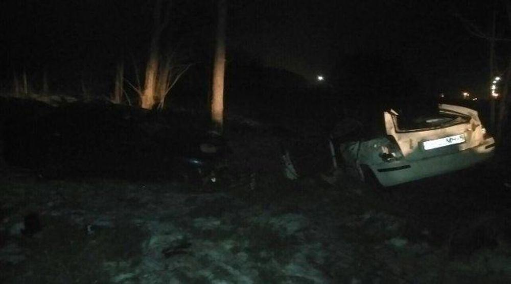Водитель легковушки в Минске не справился с управлением, врезался в дерево и погиб (фото)