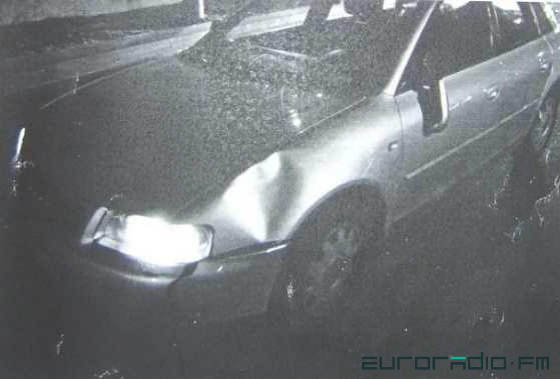 Машина Оксаны после ДТП. Фото: Еврорадио