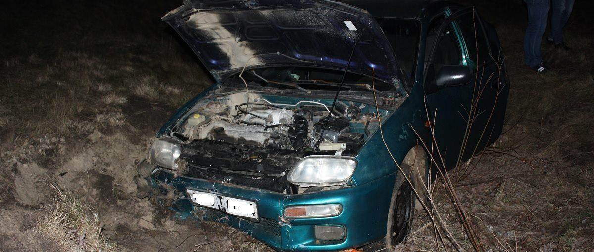 Женщина ехала в Барановичи, но вылетела в кювет под Ивацевичами (фотофакт)