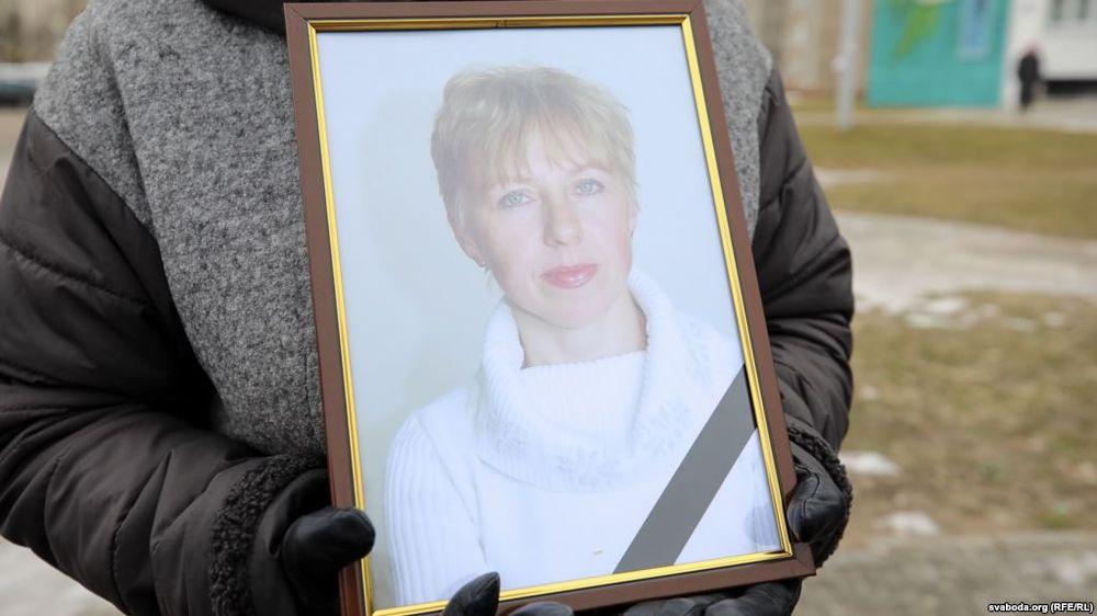 Похороны Марины Пархимович. Фото: svaboda.org