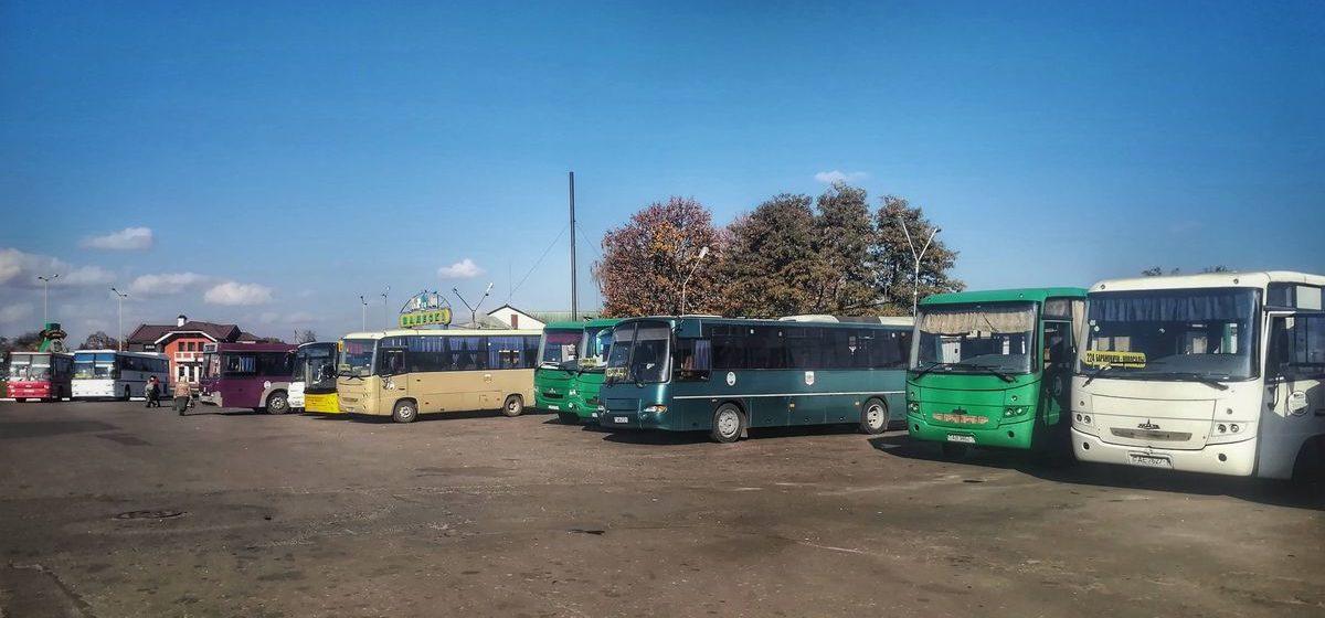 С 15 августа Барановичский автопарк отменяет некоторые пригородные рейсы