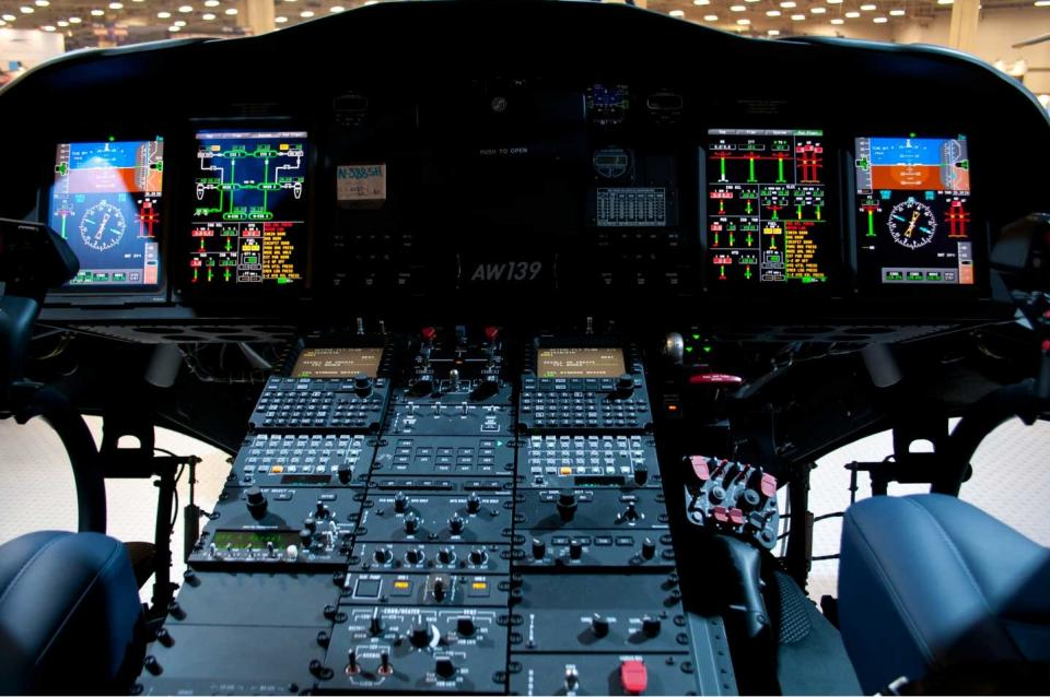 Так выглядит салон вертолета в VIP-исполнении. Фото: Еврорадио