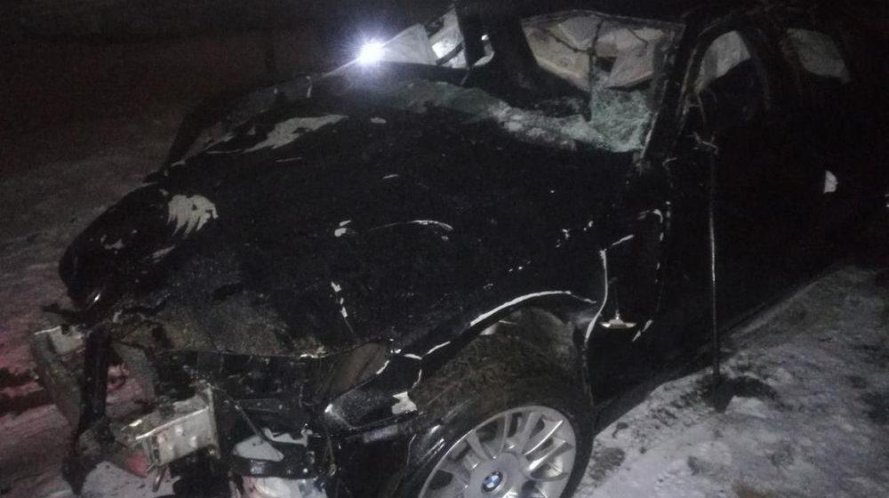 Легковушка вылетела с трассы в кювет и перевернулась в Дубровенском районе
