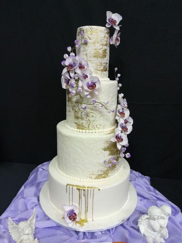 """Свадебный торт """"Императрица"""" для конкурса в Варшаве."""
