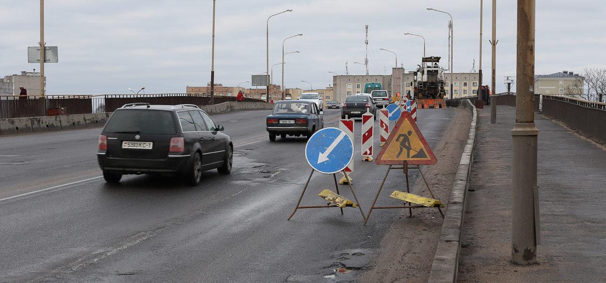 В Барановичах ограничили движение на Полесском мосту