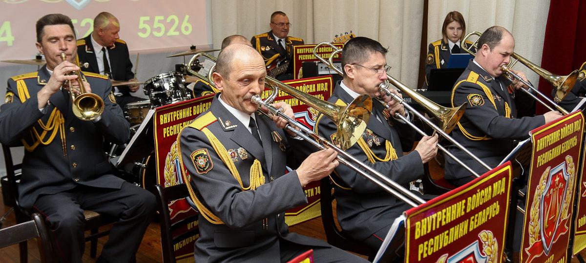 Смотр-конкурс штатных военных оркестров прошел в в/ч 7404 в Барановичах (видео)