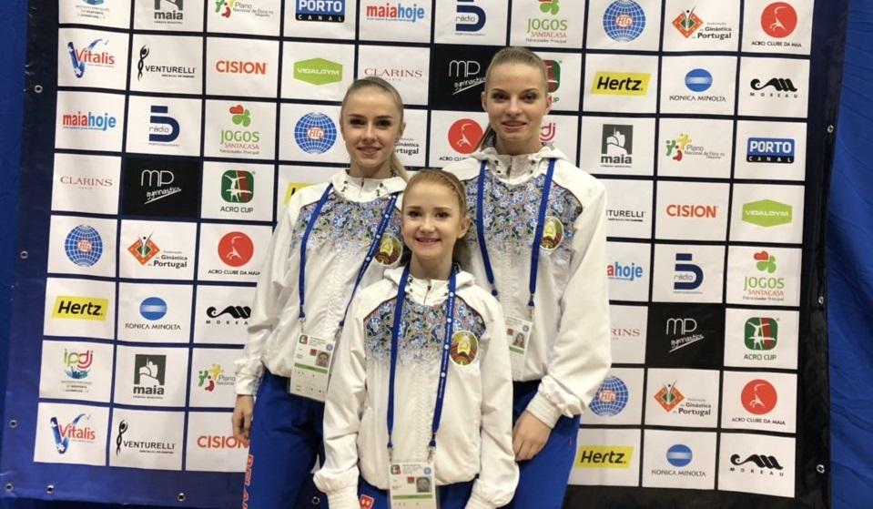 Барановичские акробатки достойно представили Беларусь на этапе Кубке мира