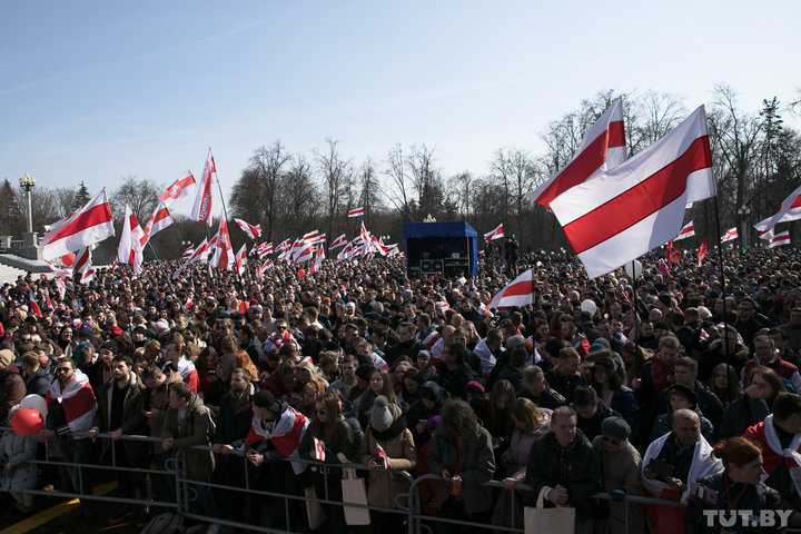 День Воли в Минске, 25 марта 2018 года. Фото: Ольга Шукайло, TUT.BY