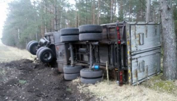 Под Ляховичами от грузовика оторвался прицеп. ГАИ разыскивает хозяина