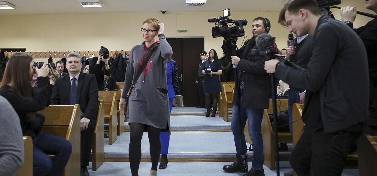 Главного редактора TUT.BY Марину Золотову приговорили к штрафу в 300 базовых
