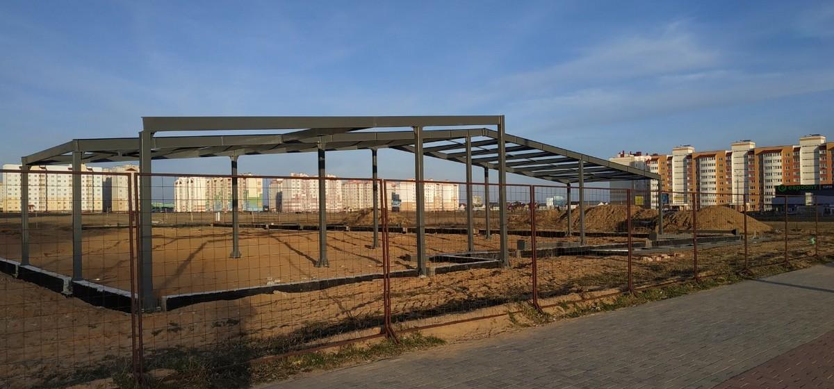 Как ведется строительство физкультурно-оздоровительного комплекса в Барановичах (фото)