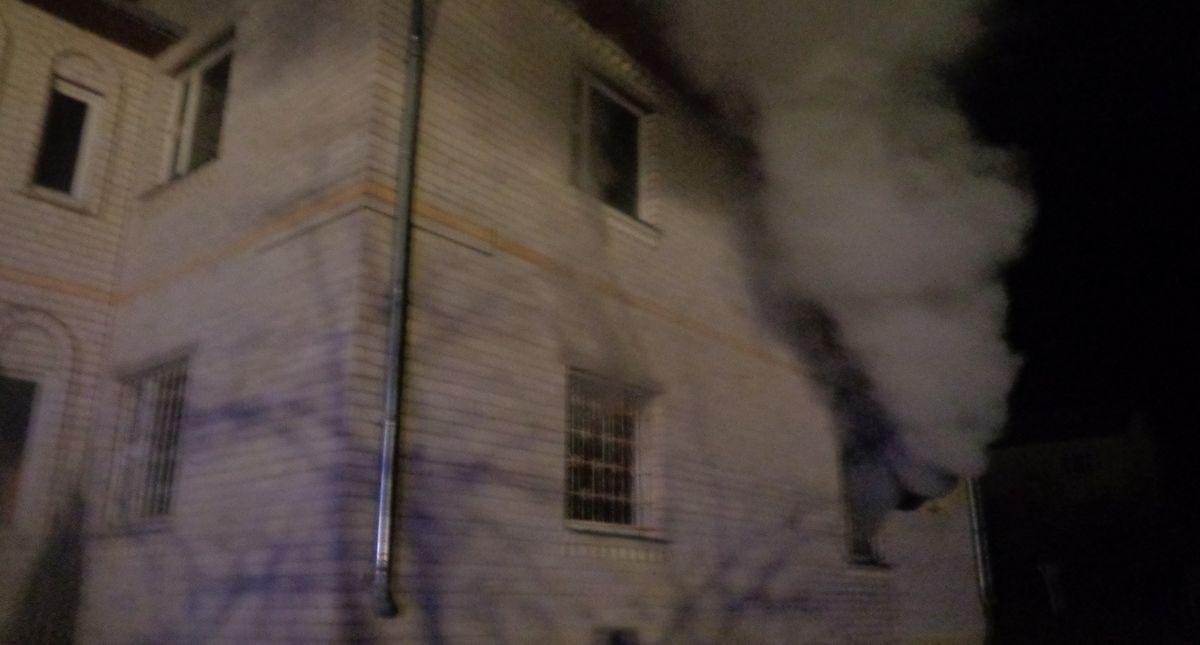 Место возгорания. Фото: Барановичский ГРОЧС