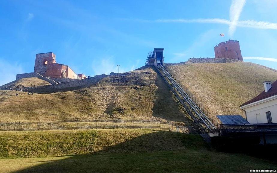 Гора Гедимина в Вильнюсе, где были обнаружены останки повстанцев. Фото: Радыё Свабода
