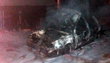 Под Барановичами сгорел автомобиль