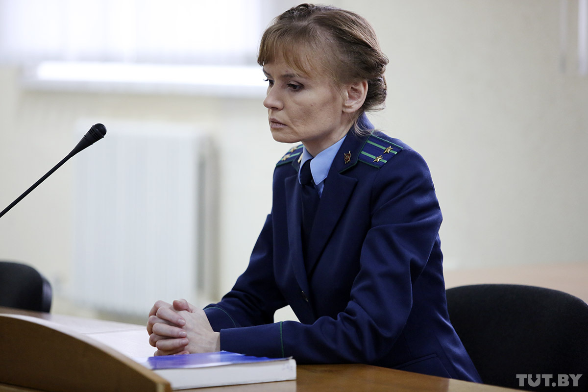 Прокурор Юлия Харчейкина. Фото: Дарья БУРЯКИНА, tut.by