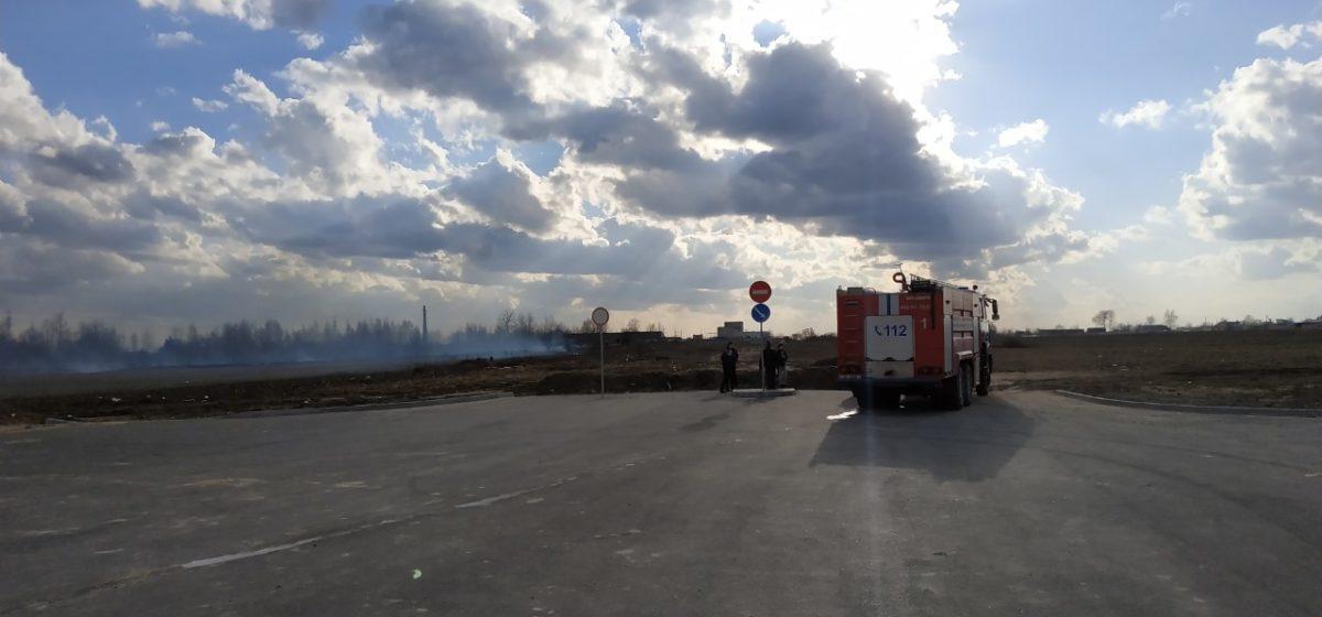 Что горело в Боровках в Барановичах (фотофакт)