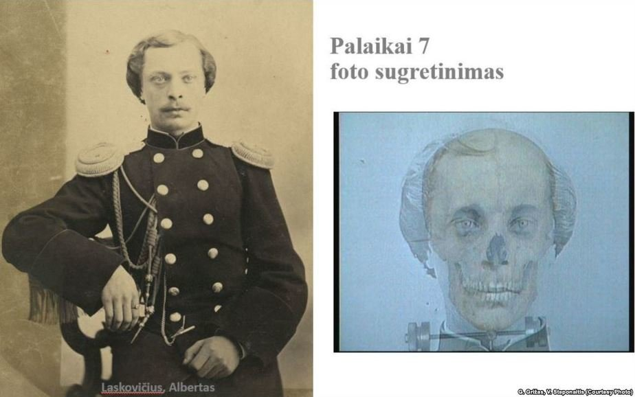 Альберт Ляскович, антропологическая идентификация. Фото: Радыё Свабода