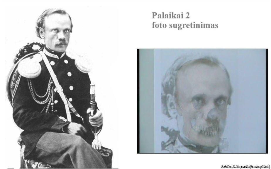 Зыгмунт Сераковский, антропологическая идентификация. Фото: Радыё Свабода