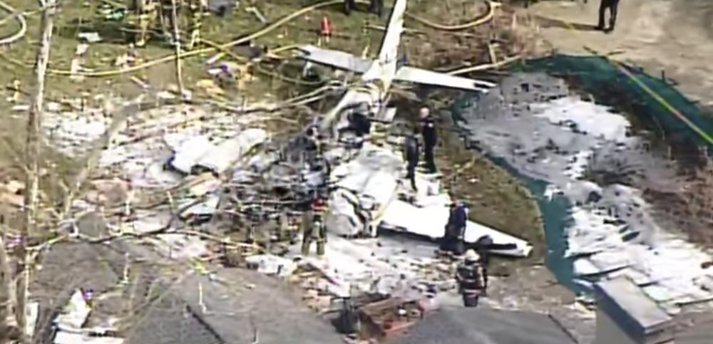 Двухмоторный самолет упал на жилой дом в штате Огайо, есть погибшие